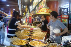 Shenzhen, China: delicious food street landscape Royalty Free Stock Photo