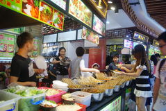 Shenzhen, China: delicious food street landscape Stock Photo
