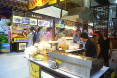 Shenzhen, China: delicious food street landscape Royalty Free Stock Photos