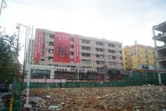 Shenzhen, China: demolition of buildings Stock Photography