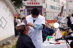 Shenzhen, China: Dentists stalls Royalty Free Stock Images