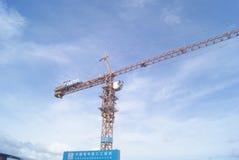 Shenzhen, China: die Baustelle des Turmkrans Lizenzfreies Stockfoto