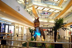 Shenzhen china: dinosaur exhibits. On July 21, 2012, shenzhen yitian holiday square, hosting the dinosaur exhibits. Huge model dinosaur, image is clear, attract royalty free stock photography
