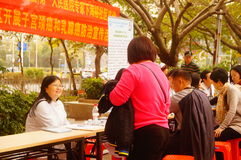 Shenzhen, China: doctors in public hospitals to the community for free medical treatment for residents. Baoan District people`s Hospital of experts and doctors stock images