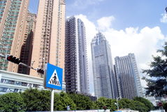 Shenzhen, China: Dongmen architectural landscape Royalty Free Stock Images