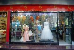 Shenzhen, China: Dongmen commercial pedestrian street landscape Royalty Free Stock Photos