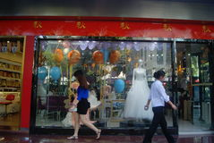Shenzhen, China: Dongmen commercial pedestrian street landscape Stock Image