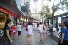Shenzhen, China: Dongmen commercial pedestrian street landscape Stock Photography