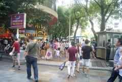 Shenzhen, China: Dongmen commercial pedestrian street landscape Stock Images