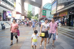 Shenzhen, China: Dongmen commercial pedestrian street landscape Royalty Free Stock Photography