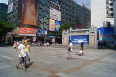 Shenzhen, China: Dongmen commercial pedestrian street Royalty Free Stock Images