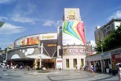 Shenzhen, China: Dongmen commercial pedestrian street Stock Photography