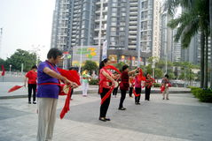 Shenzhen, china: drum team performance Royalty Free Stock Photography
