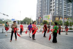 Shenzhen, china: drum team performance Royalty Free Stock Images