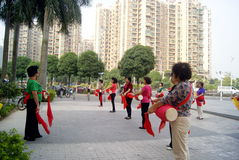 Shenzhen, china: drum team performance Stock Image