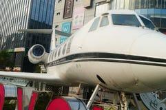 Shenzhen, China: el paisaje de la sala de exposiciones de la ciudad del avión privado Fotos de archivo libres de regalías