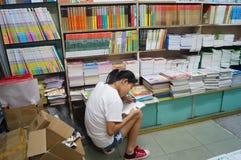 Shenzhen, China: El paisaje interior de la librería Imagen de archivo libre de regalías