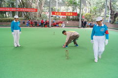 Shenzhen, China: the elderly croquet competitions Stock Photo