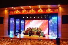 Shenzhen, China: the elderly performances Royalty Free Stock Images