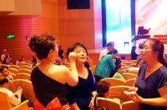 Shenzhen, China: the elderly performances Royalty Free Stock Photo
