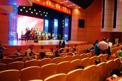 Shenzhen, China: the elderly performances Stock Images