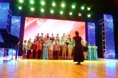 Shenzhen, China: the elderly performances Royalty Free Stock Image