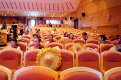 Shenzhen, China: the elderly performances Royalty Free Stock Photography