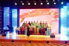 Shenzhen, China: the elderly performances Royalty Free Stock Photos