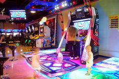 Shenzhen china: electronic game room Stock Images