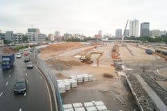 Shenzhen, China: Emplazamiento de la obra del proyecto de la renovación de las aduanas de Nantou Foto de archivo libre de regalías