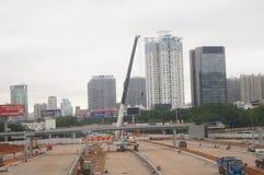 Shenzhen, China: Emplazamiento de la obra del proyecto de la renovación de las aduanas de Nantou Imagen de archivo libre de regalías