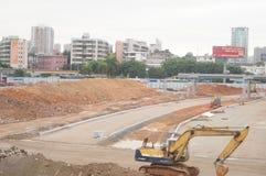 Shenzhen, China: Emplazamiento de la obra del proyecto de la renovación de las aduanas de Nantou Imagenes de archivo