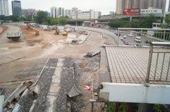 Shenzhen, China: Emplazamiento de la obra del proyecto de la renovación de las aduanas de Nantou Fotos de archivo libres de regalías