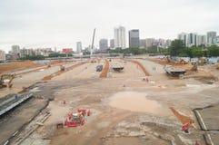 Shenzhen, China: Emplazamiento de la obra del proyecto de la renovación de las aduanas de Nantou Fotografía de archivo libre de regalías