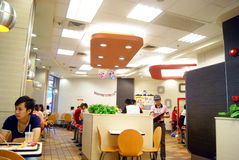 Shenzhen china: enjoy cate in kfc Royalty Free Stock Photo