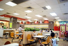 Shenzhen china: enjoy food in kfc Stock Photo