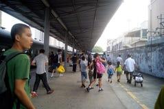 Shenzhen, China: estación de tren Fotos de archivo