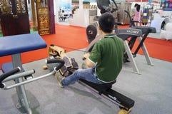Shenzhen, China: exercise equipment exhibition sales Stock Photo