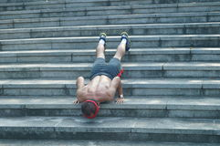 Shenzhen, China: exercise in the park man Royalty Free Stock Photography