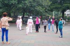 Shenzhen, China: exercise women Stock Photos