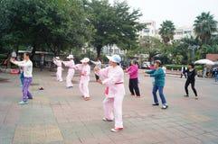Shenzhen, China: exercise women Stock Image