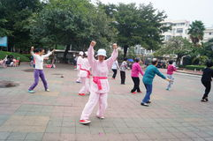 Shenzhen, China: exercise women Royalty Free Stock Photos