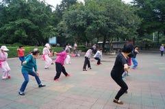 Shenzhen, China: exercise women Stock Photo