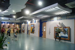 Shenzhen, China: exposição da imagem 3D Imagens de Stock