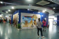 Shenzhen, China: exposição da imagem 3D Fotos de Stock