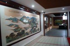 Shenzhen, China: Exposição de pintura dos trabalhos Imagem de Stock Royalty Free