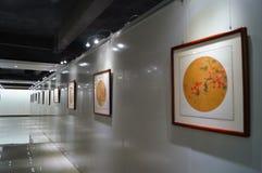 Shenzhen, China: Exposição de pintura dos trabalhos Foto de Stock Royalty Free