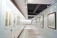 Shenzhen, China: Exposición de pintura de los trabajos Imagen de archivo