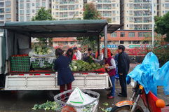 Shenzhen, China: farmers market Royalty Free Stock Photo