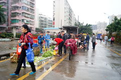 Shenzhen, China: farmers market Stock Photography